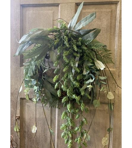 Greenery and Hops Wreath