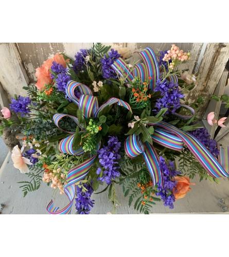 Purple Garden Saddle