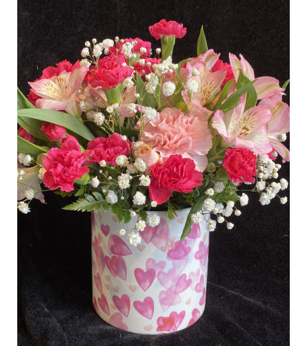 Pink Hearts Bouquet