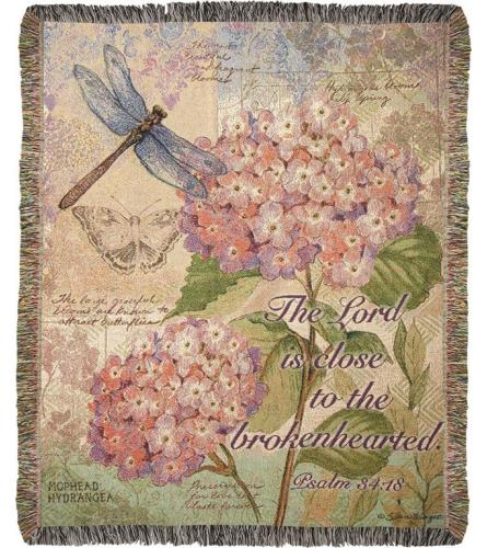 Field Guide with Verse Tapestry Throw Blanket