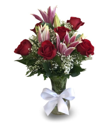 Lovey Dovey Roses & Lilies