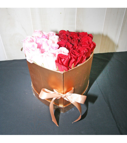Golden Box of Roses