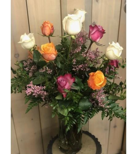1 Dozen Rose Asst Colur