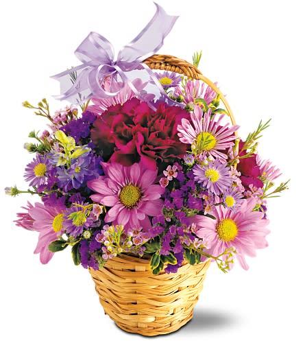 Lavender Garden Basket
