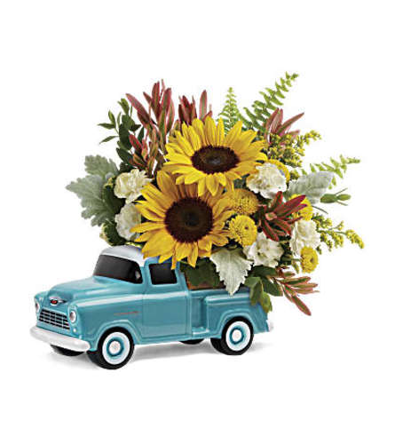 Chevy Blue Pickup bouquet