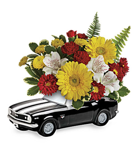 Chevy  '67 Black Camaro bouquet