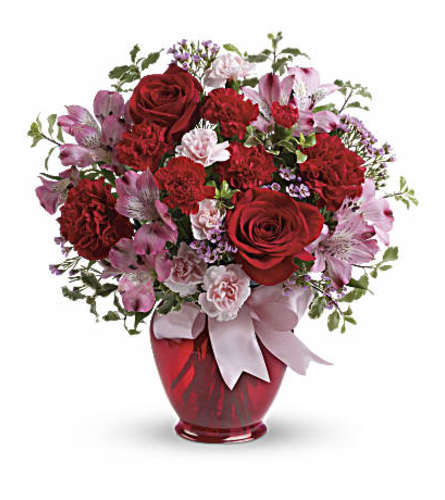 Blissfully yours with red roses