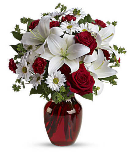 Be My Love Bouquet with red and white