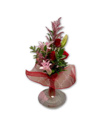 Pink  Red Love Dream in Premium Polish Vase