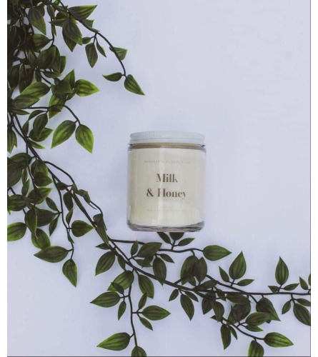 Locally Sourced Pure Soy Candles (Milk & Honey)