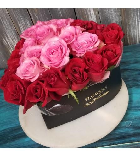 Hat Box Roses