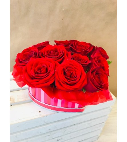 Heart Shaped Box of Roses by 4SF