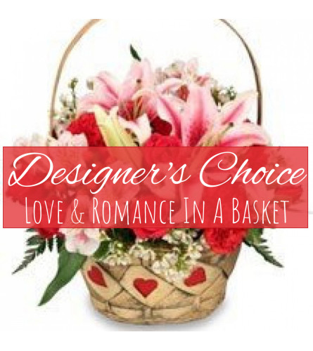 Love and Romance In A Basket Florist Design