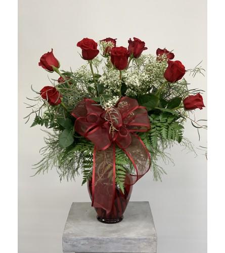 Dozen Premium Red Roses arranged