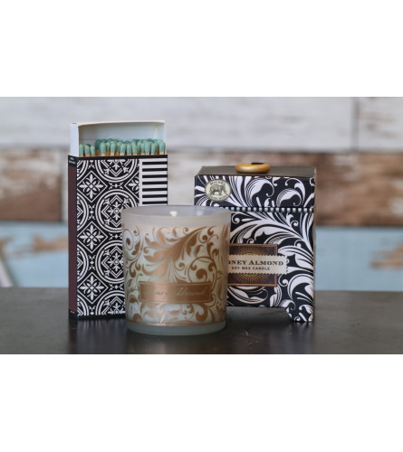 Candle and Matches-Honey Almond