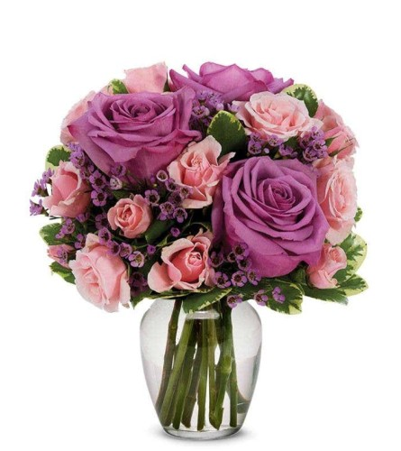 Special Moments Bouquet- Purple and Pink
