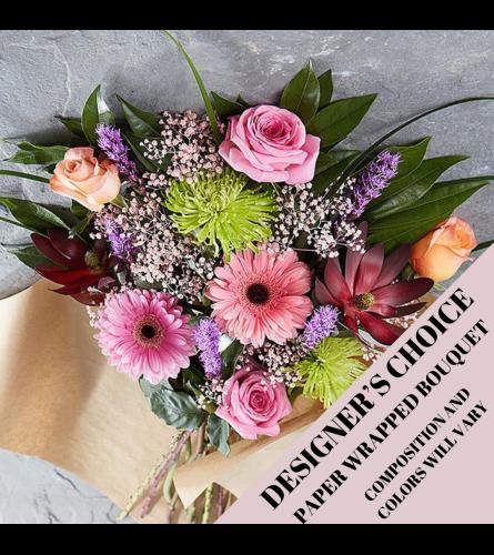 Designer's Choice Paper Wrapped Bouquet