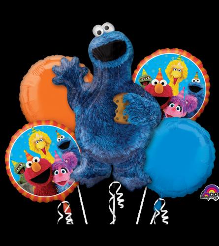 Cookie Monster Super Fun Balloon Bouquet