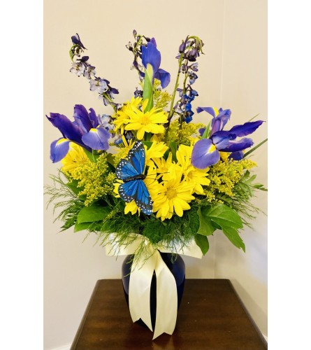 Bella's Blue Bonnet Vase
