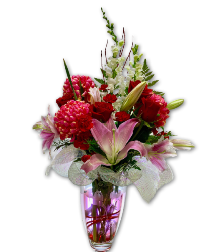 Love Burst Arrangement in Polish Vase