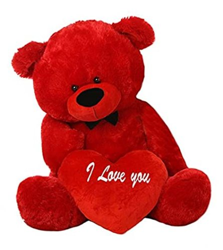 I Love You Red Large Bear