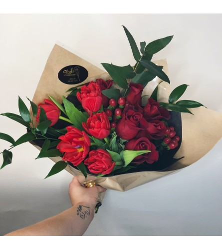 Ruby Red Hand-Tied Bouquet