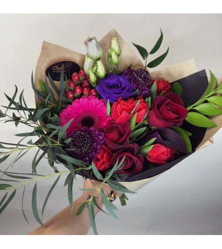 Passionate Jewel-Tones Hand-Tied Bouquet
