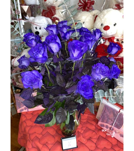 24 Royal Purple Roses