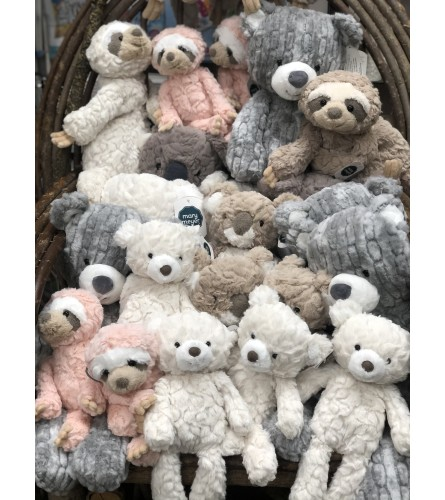 Stuffed Animal are here at varying prices, call for options