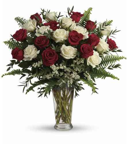 Yours Truly (Two Dozen) Rose Arrangement