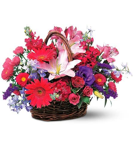 Lavender And Pink Basket