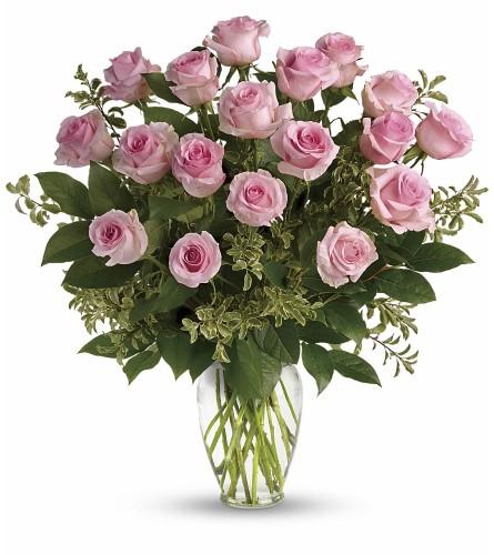 Say Something Sweet And Pink Dozen Roses