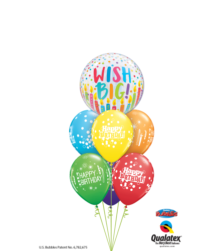 Time to Sparkle and Shine Bubble Balloon Bouquet