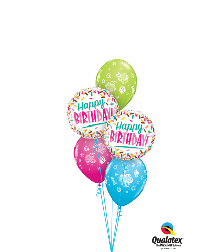 Birthday Sprinkle Surprise Classic Balloon Bouquet