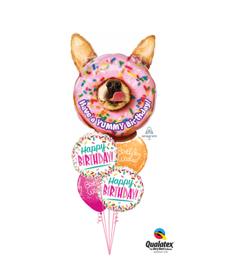 Yummy Sprinkles Cheerful Balloon Bouquet