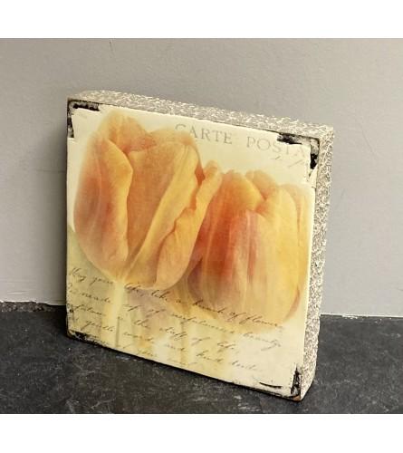 Tulip Block Art I
