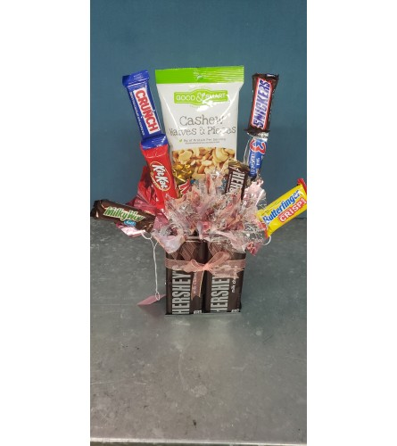 Candy/snack bouquets med