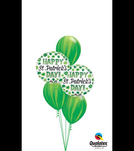 Swirlin' Green St. Pat's Classic Balloon Bouquet