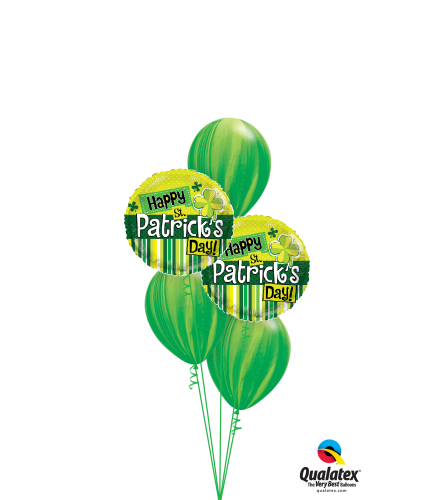 Happy St. Patrick's Day Classic Balloon Bouquet