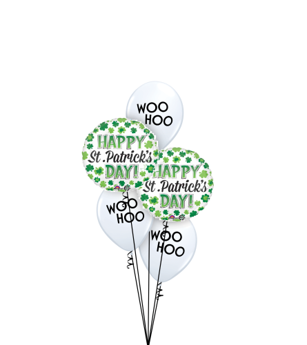 Woo Hoo St. Patrick's Day! Classic Balloon Bouquet