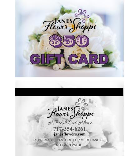Gift Card for Jane`s Flower Shoppe ONLINE