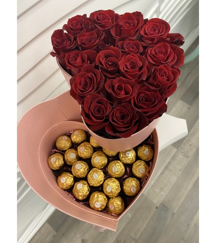 Box of Roses and chocolates