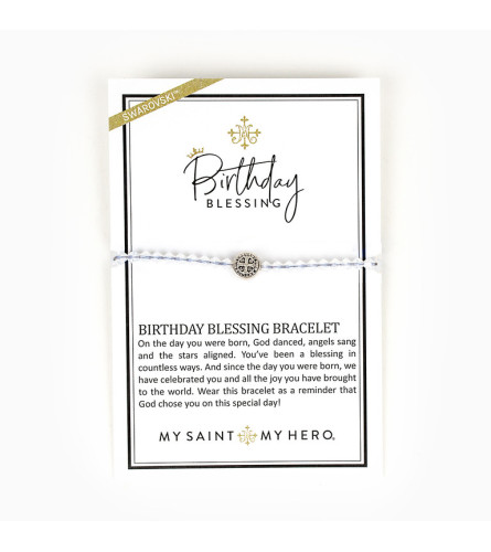 Birthday Blessings Bracelet - My Saint My Hero