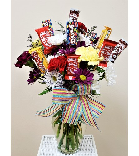 Flowering Candy Arrangements