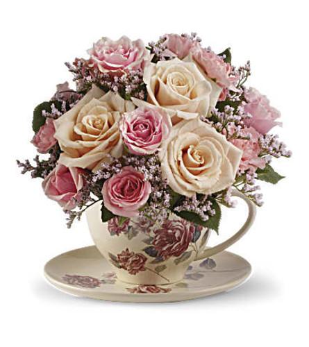Victorian bouquet teacup