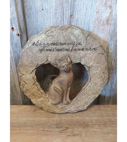 Pet Plaque (Cat) 'If Love...'