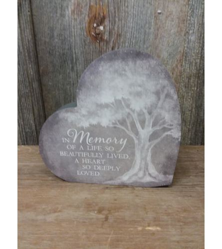 Heart Plaque 'In Memory'
