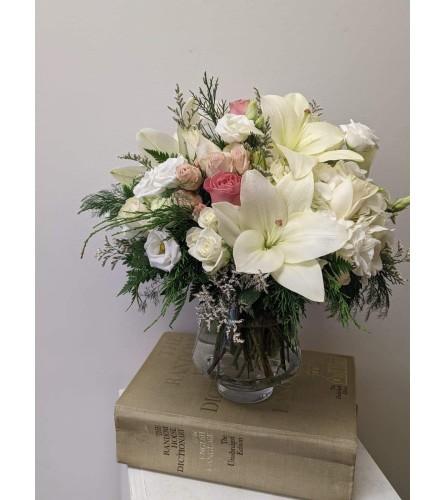 Classic Blush Vase