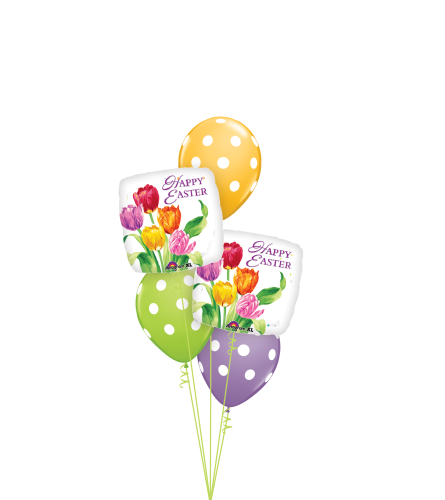 Happy Easter Tulips Classic Balloon Bouquet