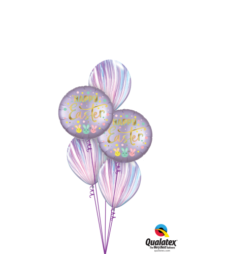 Happy Easter Agates Classic Balloon Bouquet